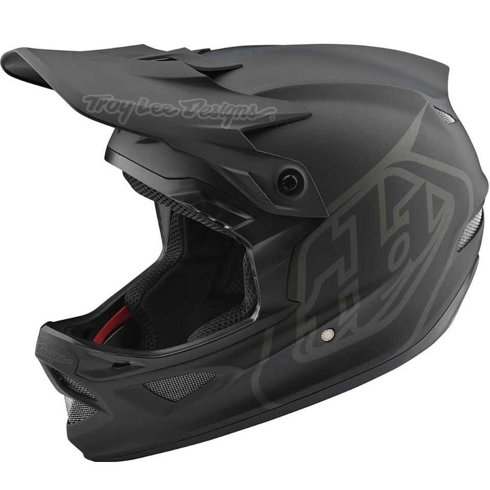 Troy Lee D3 Fiberlite Race Helmet - Mono Black