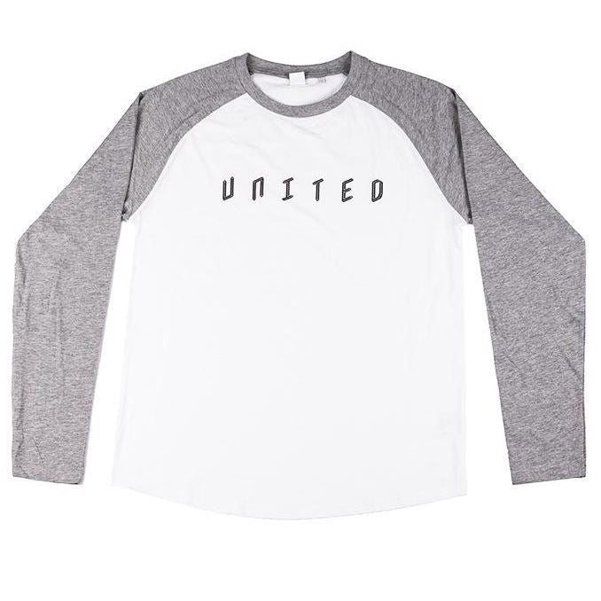 United Baseball Tee - White/Grey