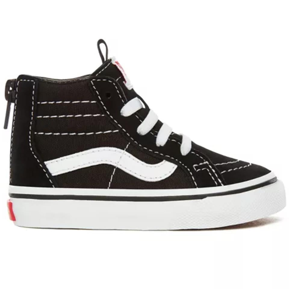Vans Toddler Sk8-Hi Zip Shoes - Black/White