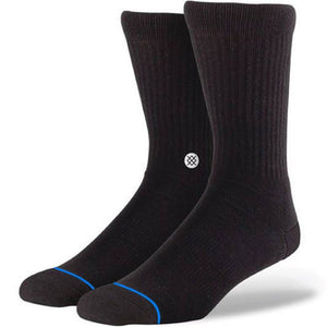 Stance Icon Socks Black/White L/XL (8uk-12uk)