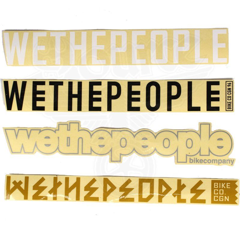 Wethepeople 4 Big Frame Sticker Pack