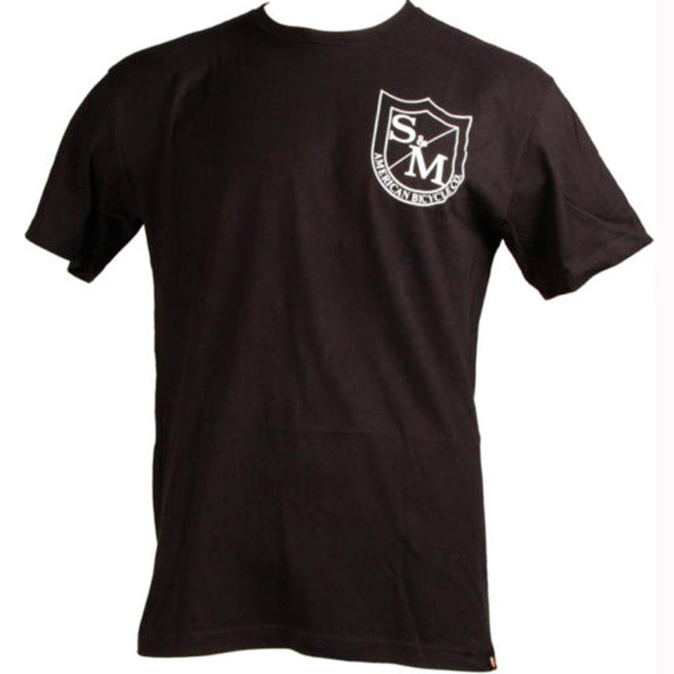 S&M Big Shield T-Shirt Front/Back Print - Black