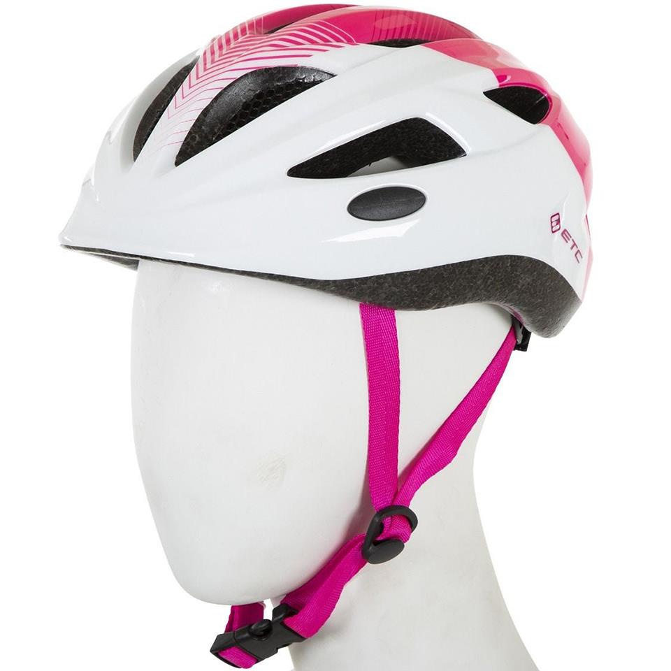ETC J250 Junior Helmet - White/Pink