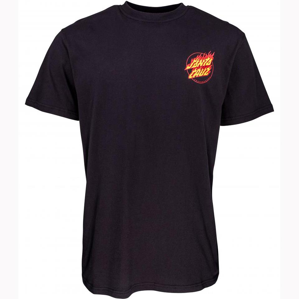 Santa Cruz Flame Hand T-Shirt - Black