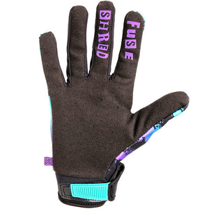 Fuse Chroma Shred Gloves - Purple/Teal Fade