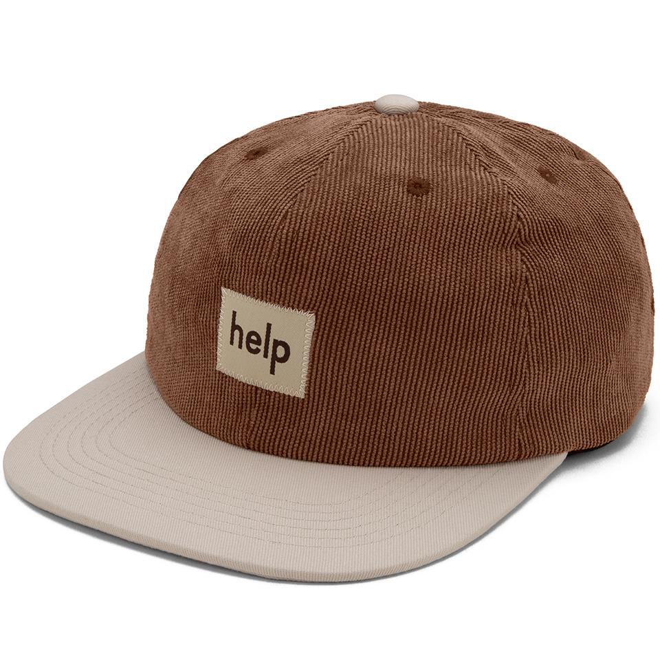 Help Ease Hat - Brown/Off White