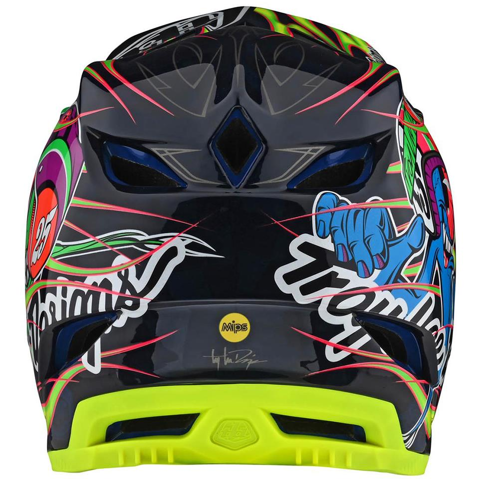 Troy Lee D4 Composite Race Helmet - Limited Edition Flo Yellow Eyeball