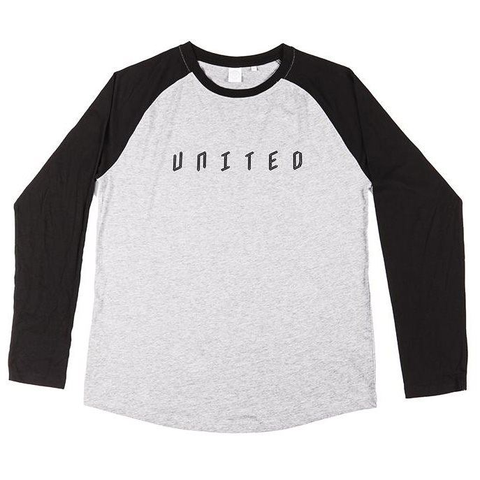 United Baseball Tee - Grey/Black