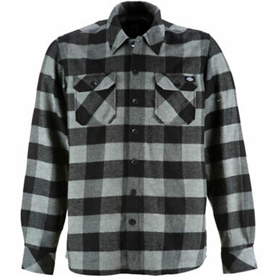 Dickies Sacramento Relaxed Long Sleeve Shirt - Grey Melange