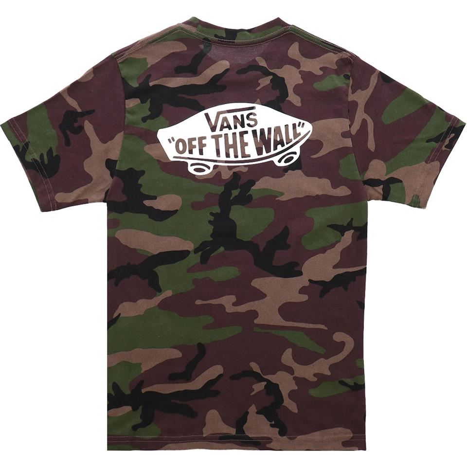 Vans Boys Off The Wall Classic T-Shirt - Camo/White