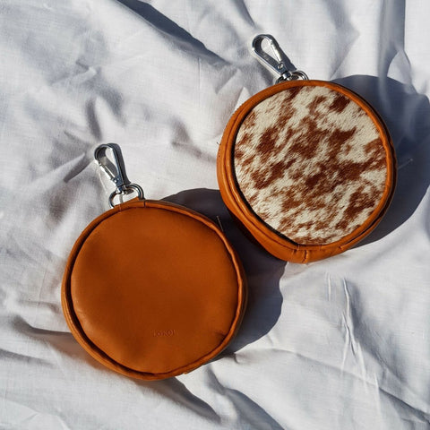 Pouches by Lokol which are made in Kenya from leather off cuts