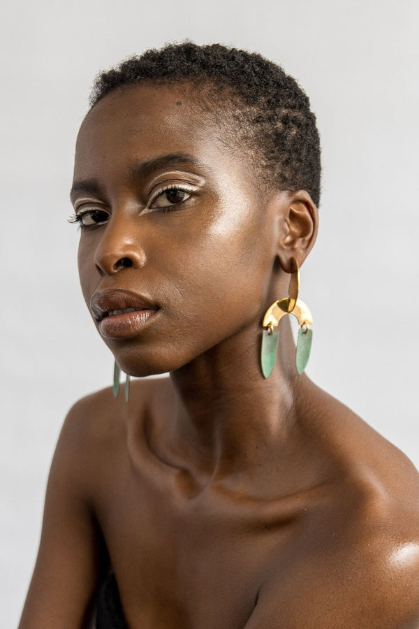 Ami Doshi Shah Form Earrings for Ichyulu Made in Kenya
