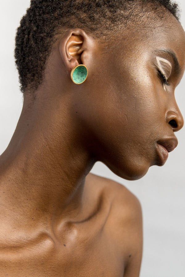 Ami Doshi Shah Vessel Stud Earrings for Ichyulu