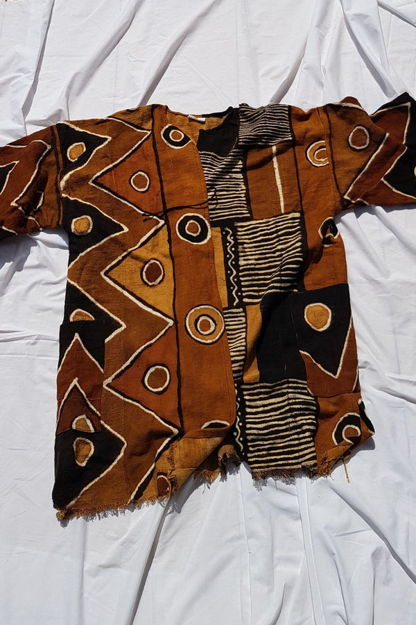 Threaded Tribes Dogon Mudcloth Cloak for Ichyulu