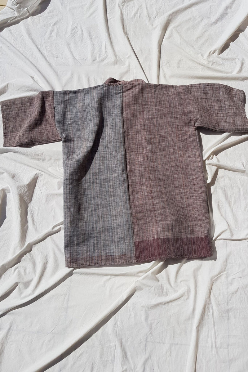 Handwoven cotton jacket by Fozia Endrias for Ichyulu