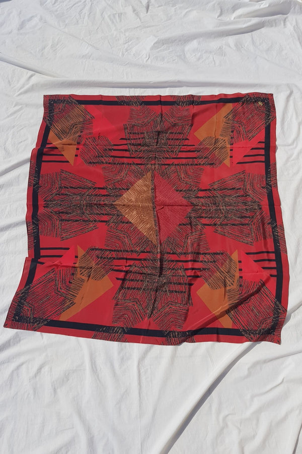 Red Katungulu Mwendwa Scarf Made in Kenya for Ichyulu