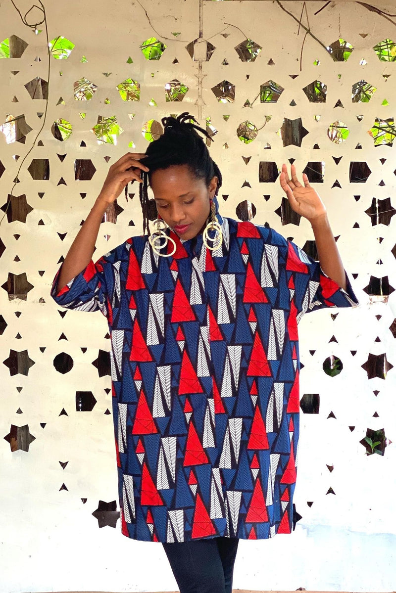 Lokol Cocoon Shirt Dress Made in Kenya Lulu Kitololo