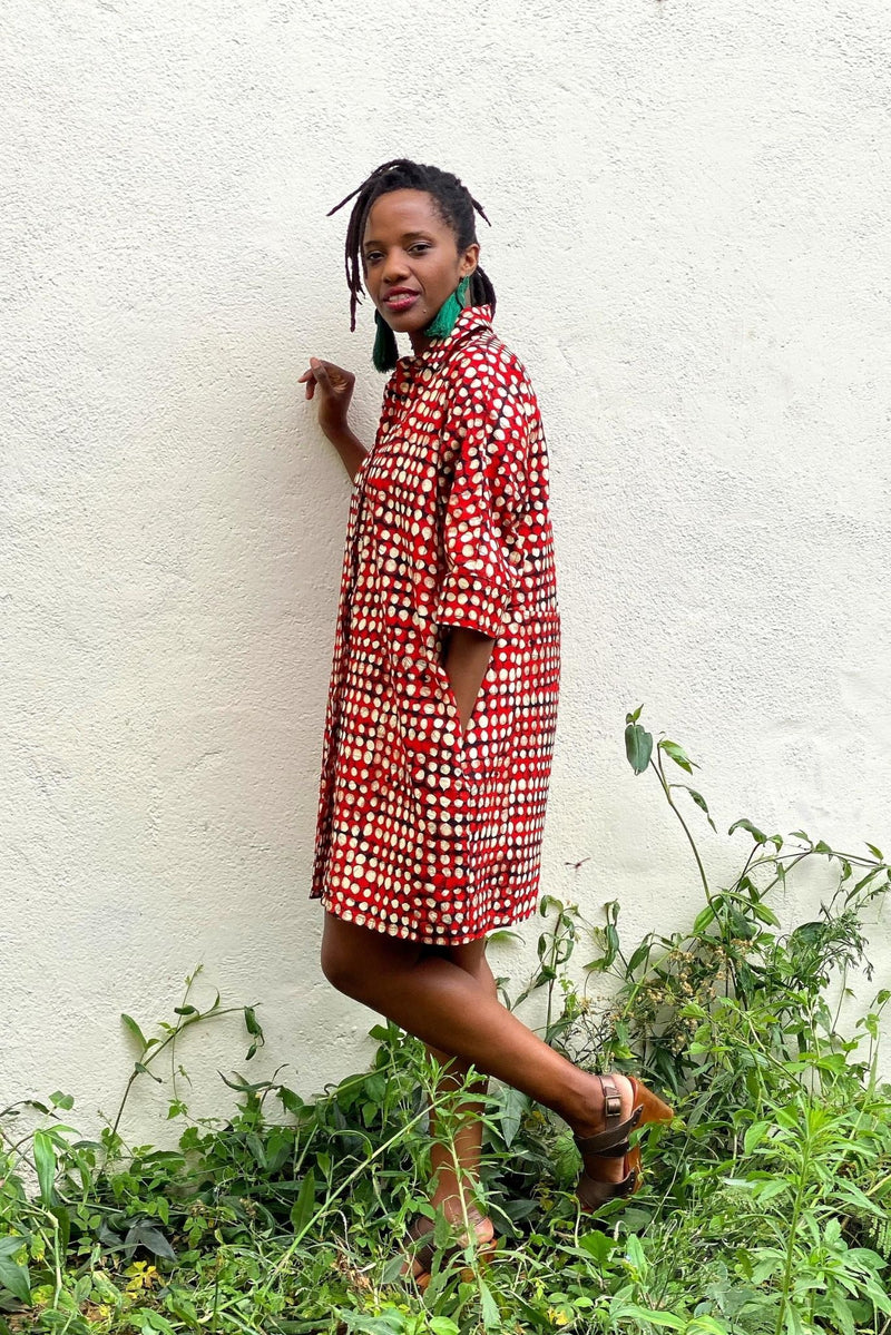 Cocoon Shirt Dress Made in Kenya Lulu Kitololo