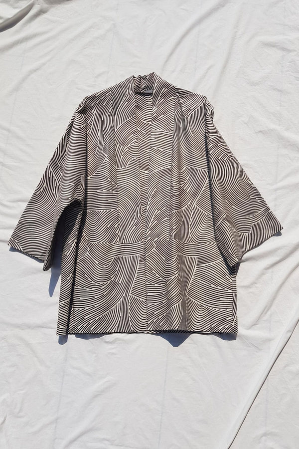 Lokol Jacket Made in Kenya Kitenge Print