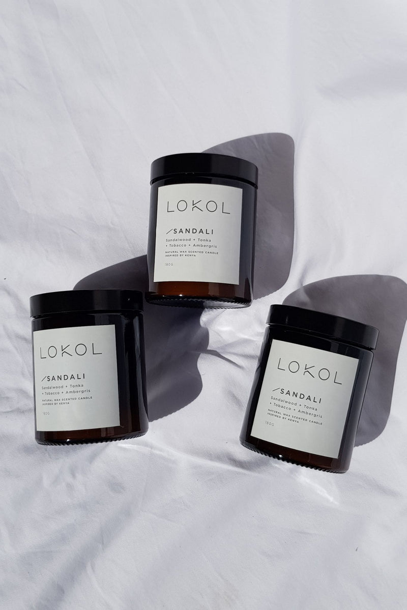 Sandali Natural Wax Candle by Lokol