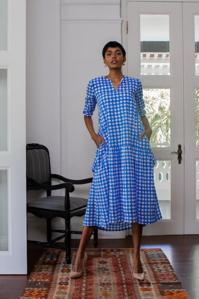 Maisha Concept Block Print Maxi Dress for Ichyulu