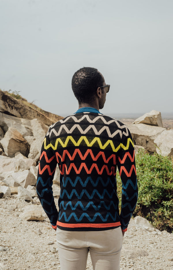 Maxhosa by Laduma Blue Cardigan