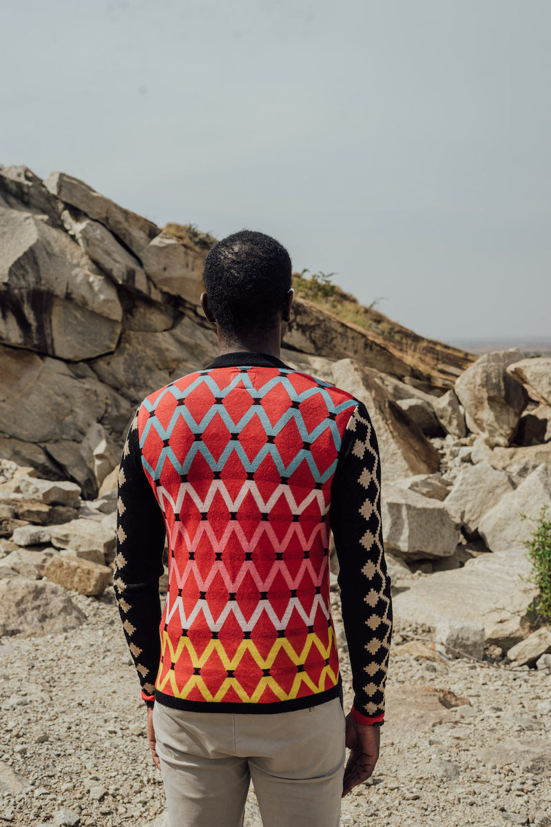 Maxhosa by Laduma Red Cardigan