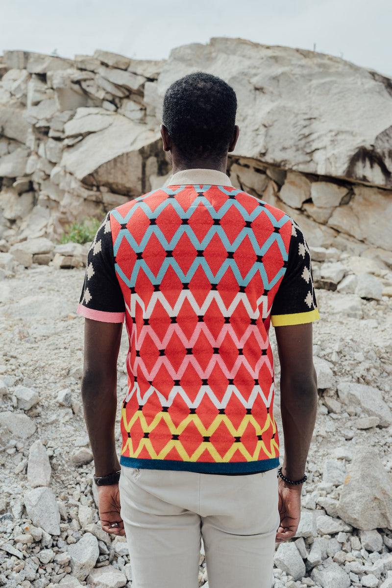 Maxhosa by Laduma Red Golf Shirt