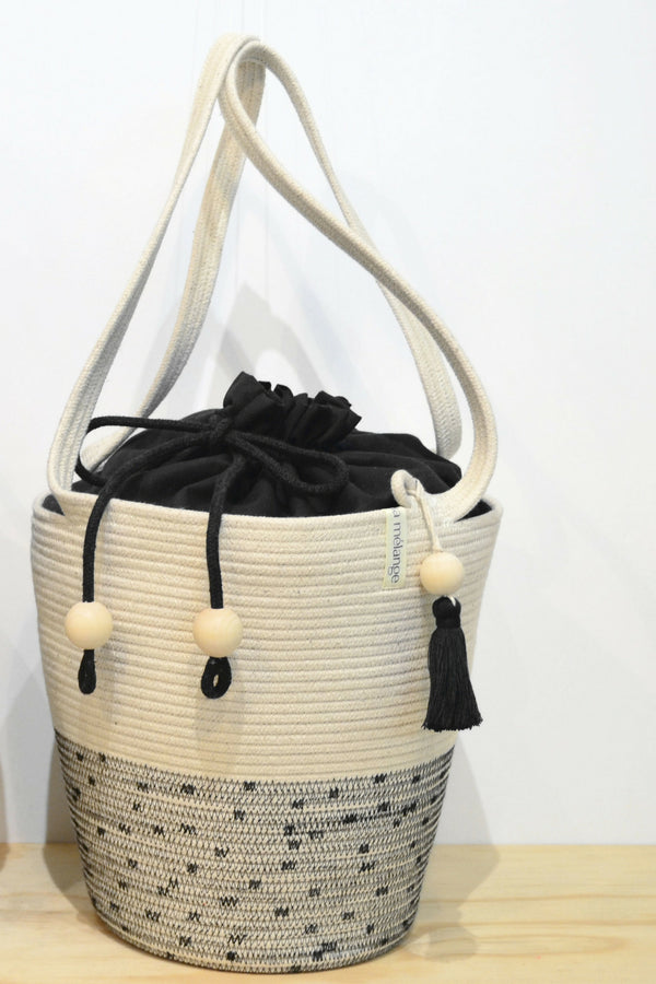 Stitched Pull String Tote