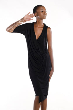 Mono Sleeve Drape Dress