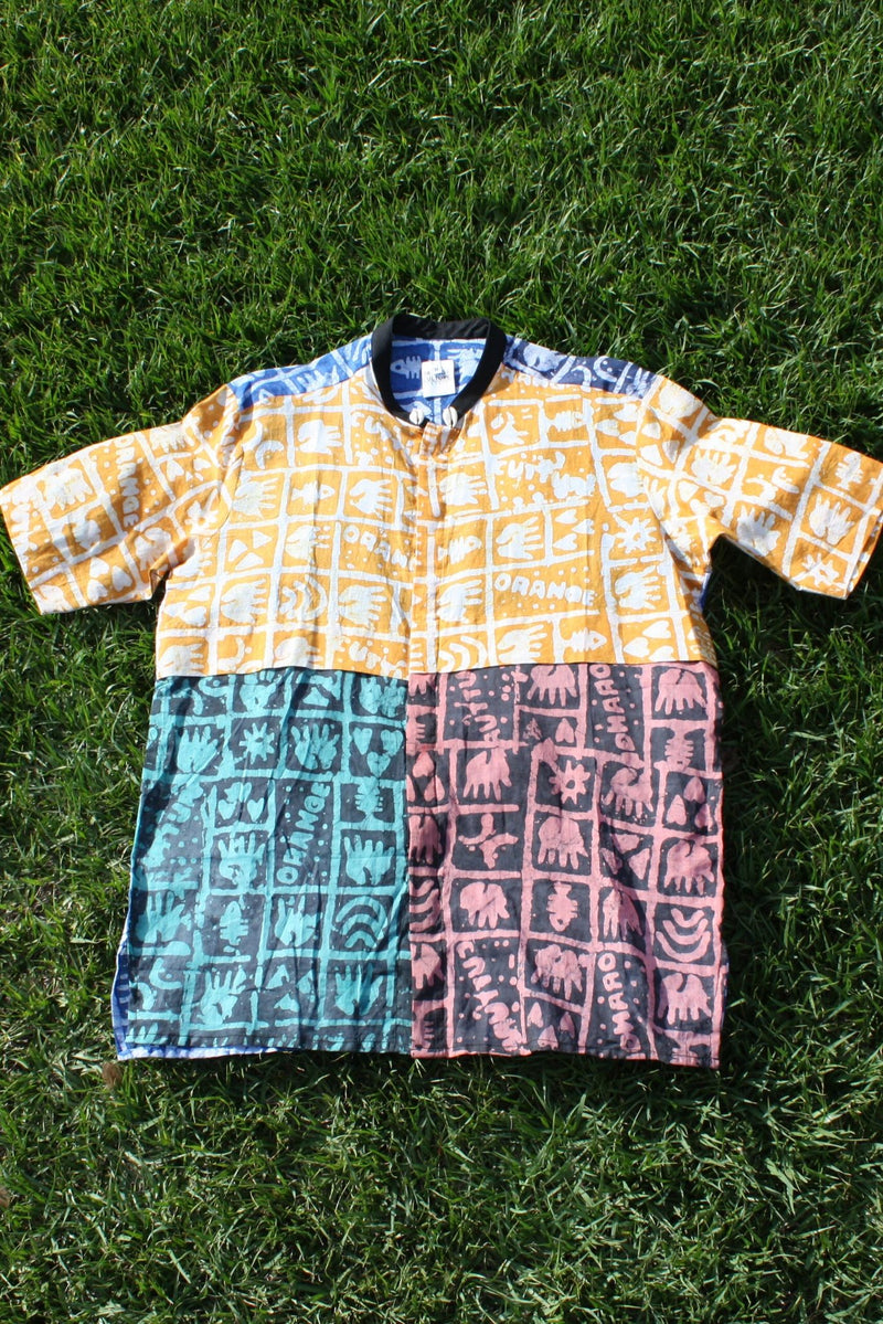Patchwork Adire Shirt