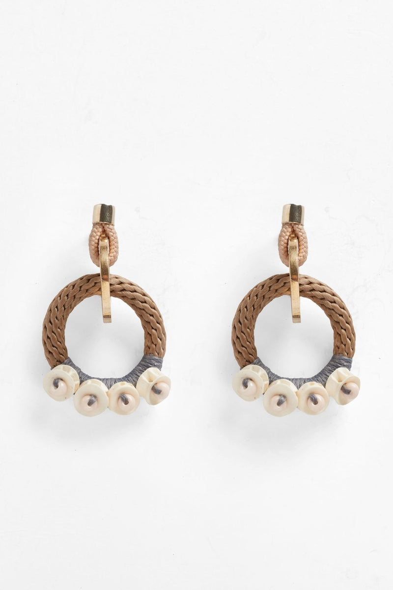 Pichulik Bindu Rope Hoop Earrings for Ichyulu