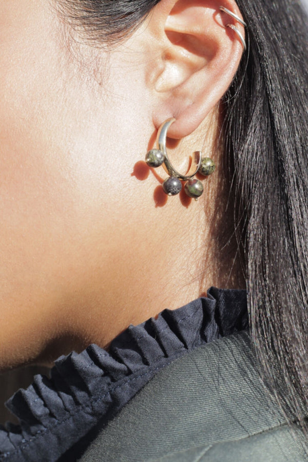 Pichulik Dragon Stone Hoop Earrings for Ichyulu