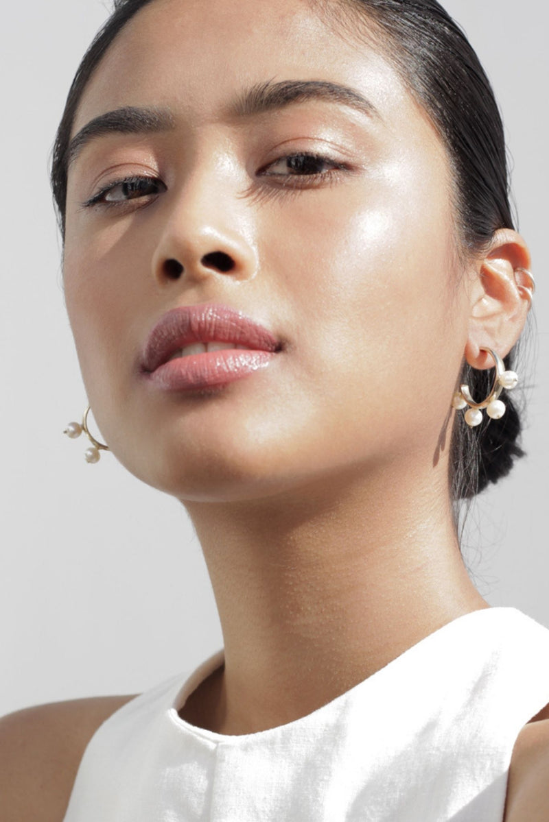 Pichulik Pearl Hoop Earrings for Ichyulu