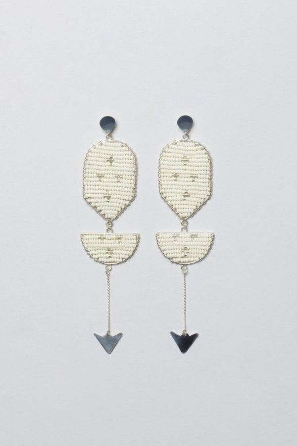 Beaded Silver Earrings Made in Tanzania for Ichyulu