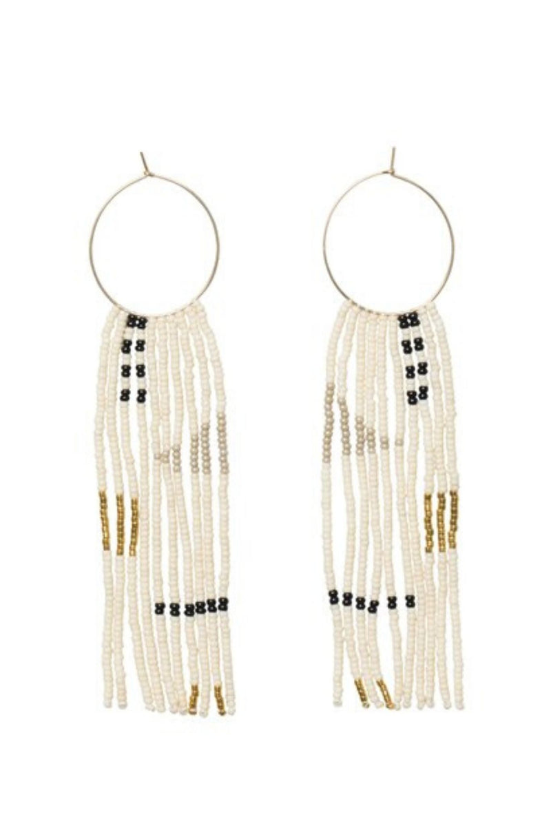 Beaded Hoop Earrings handmade in Tanzania by Sidai Designs for Ichyulu