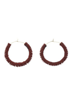 Handmade beaded Jongoo Earrings by Sidai Designs for Ichyulu