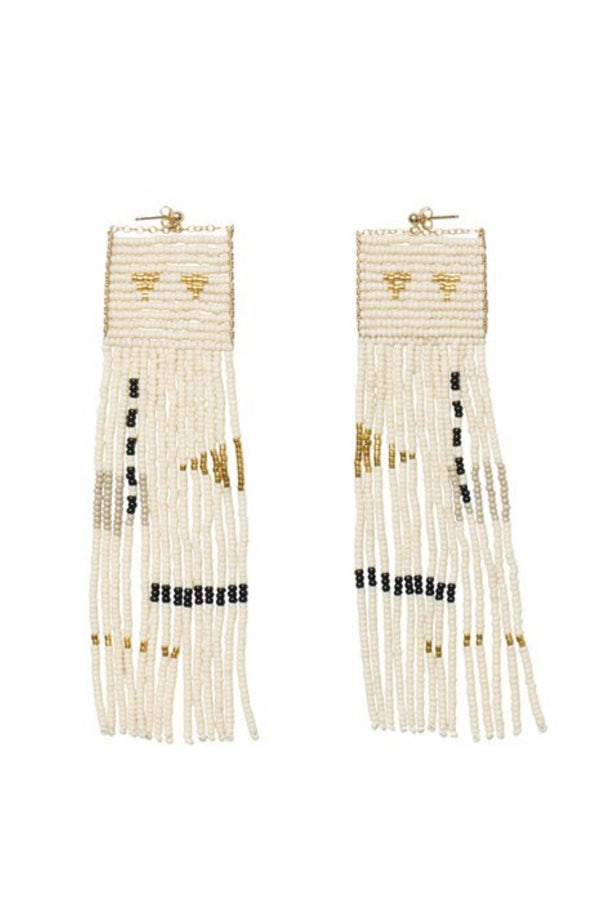 Long beaded earrings handmade in Tanzania by Sidai Designs