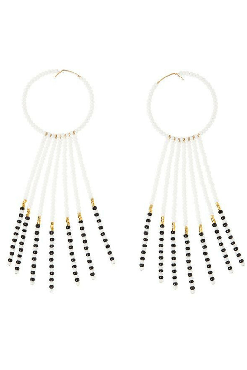 Beaded porcupine style earrings handmade in Tanzania by Sidai Designs