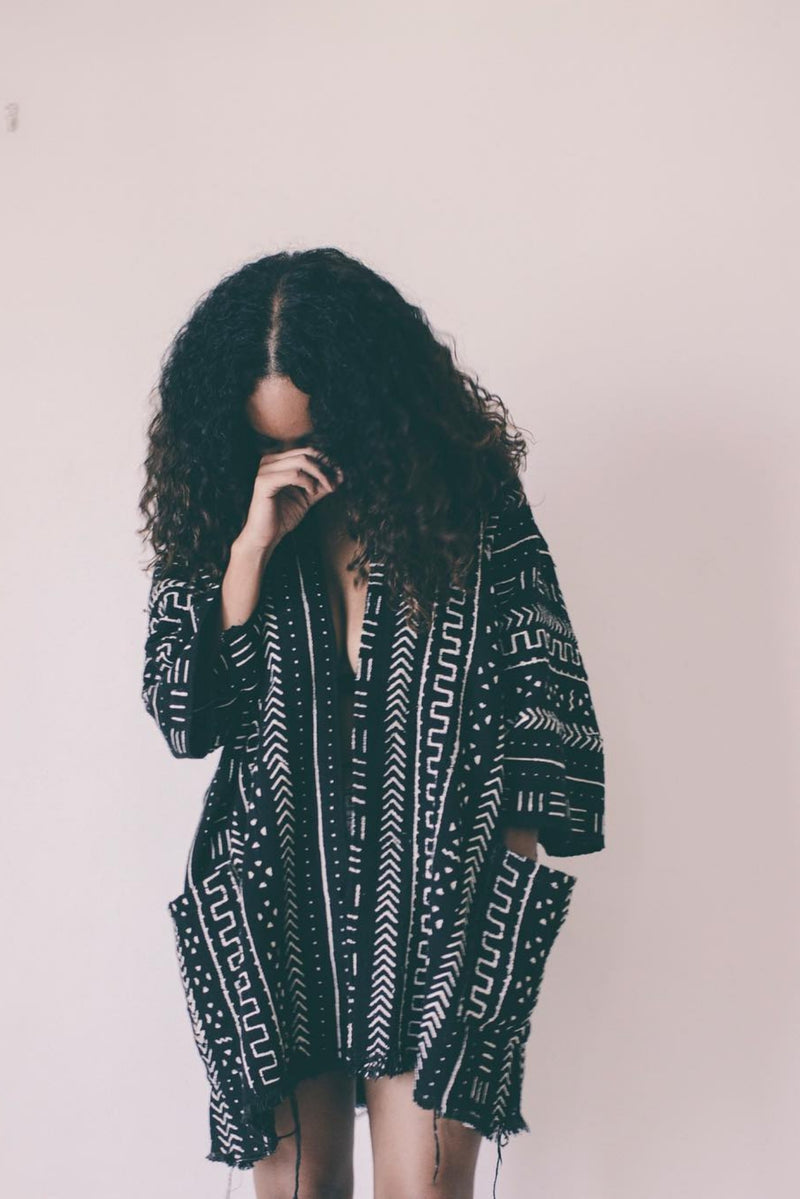 Mudcloth cloak from Threaded Tribes
