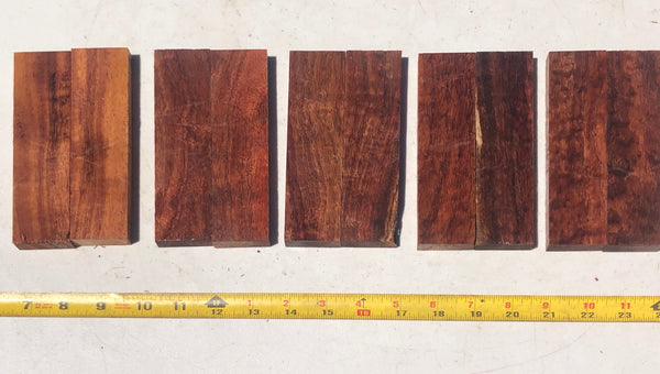 Figured Koa Knife Scales 5 pack/10 pieces