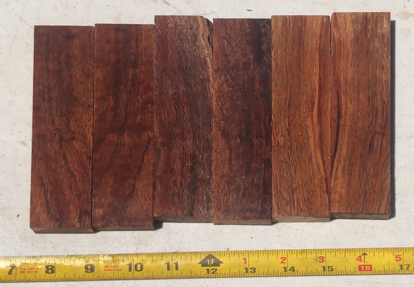 Figured Koa Knife Scales 3 pack/6 pieces