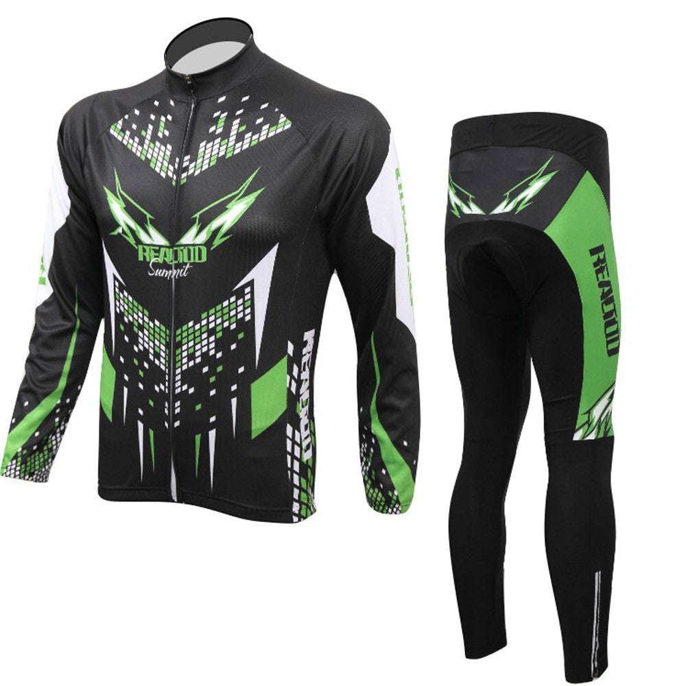 Cycling Clothing Set Sportswear Bicycle Bike Outdoor Long Sleeve Jersey + Pants Breathable Men