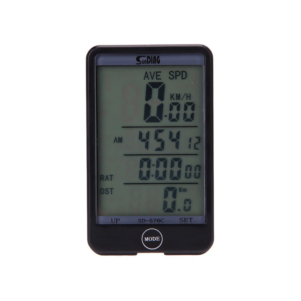 Wireless Bike Bicycle Cycling Computer Odometer Speedometer Touch Button LCD Backlight Backlit Water-resistant Multifunction