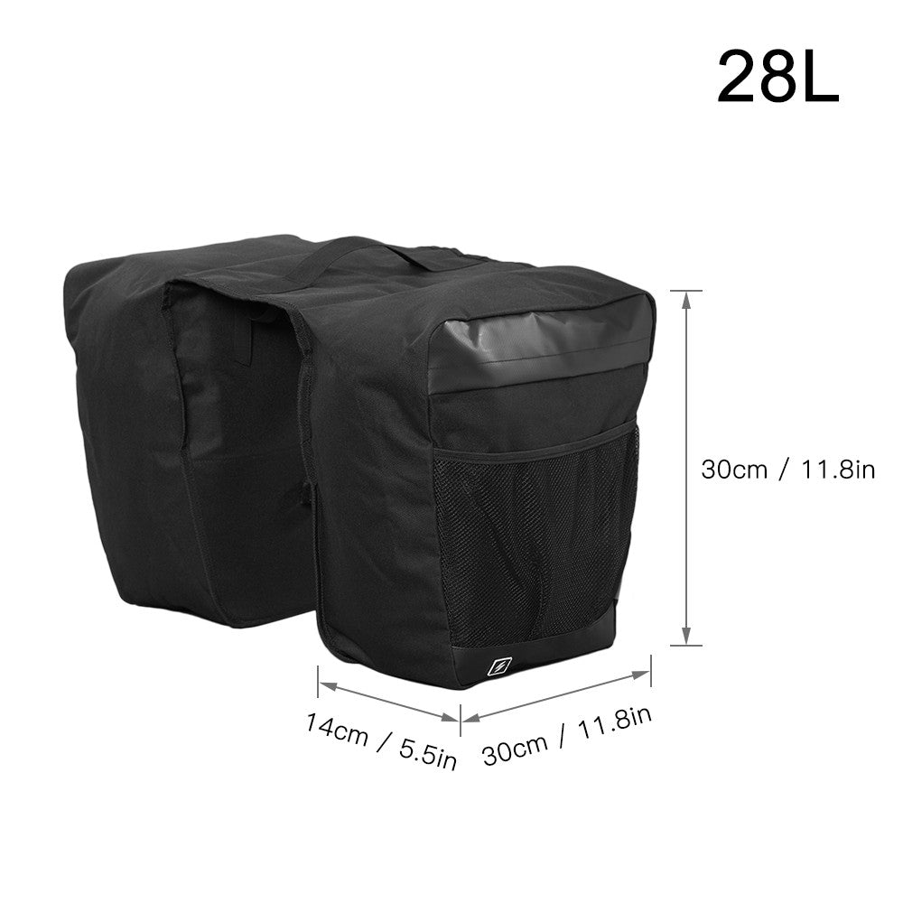 28L Large Capacity Bicycle Trunk Bag Cycling Bike Rear Rack Luggage Grocery Pannier Bag