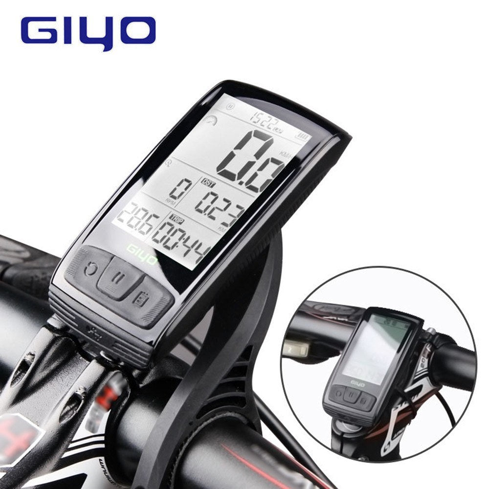GIYO Backlight Waterproof M4 Bicycle Stopwatch BT Wireless Rode Speedometer Odometer