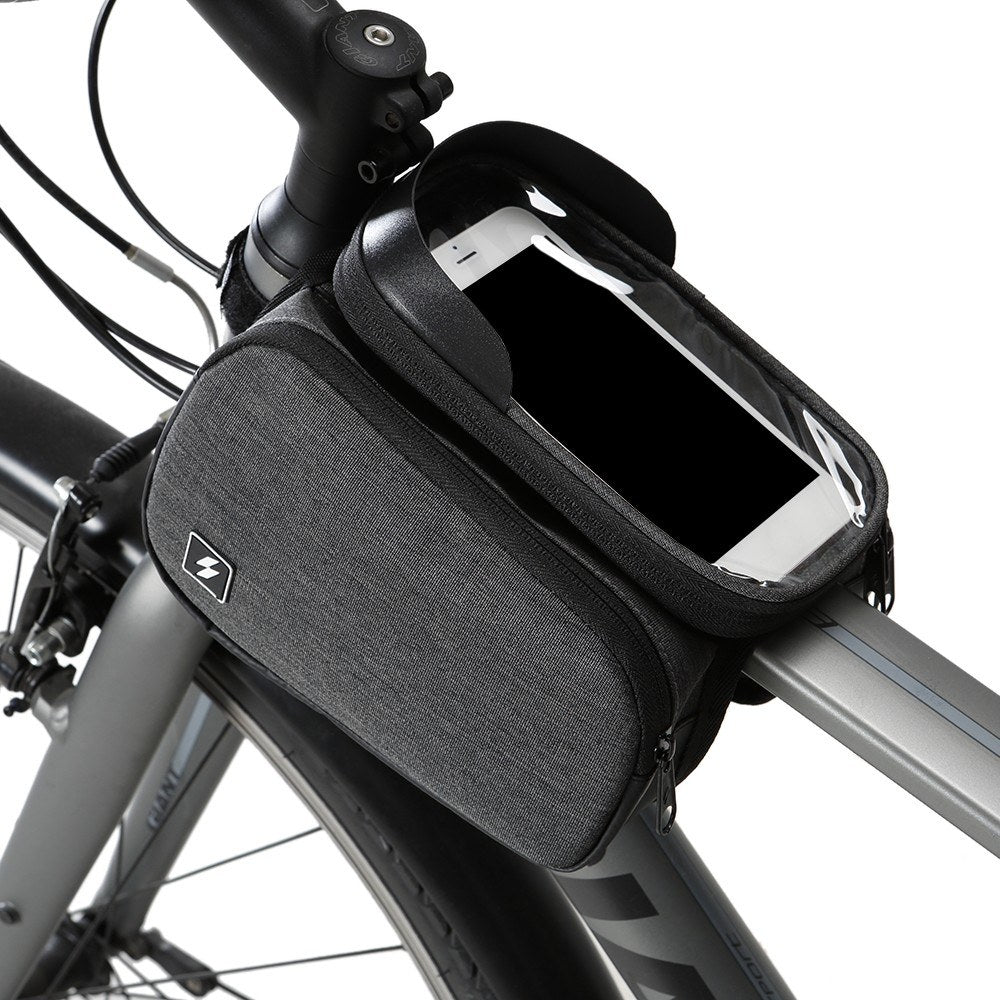 Bike Top Tube Bag Cycling Front Frame Bag Bike Bicycle Touchscreen 6 INCH Phone Pouch