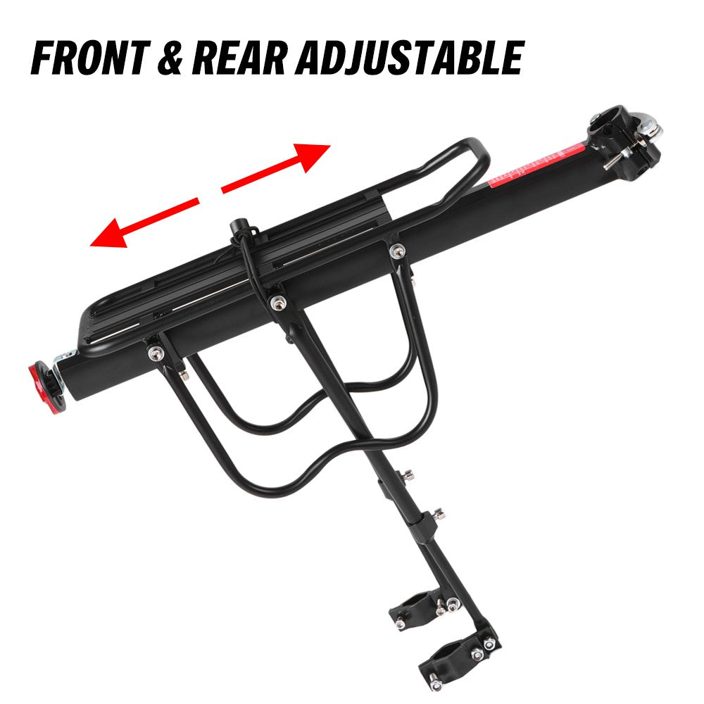 Adjustable Bike Cargo Rack Aluminum Alloy Mountain Bike Bicycle Rear Rack Bicycle Pannier Luggage Carrier Rack