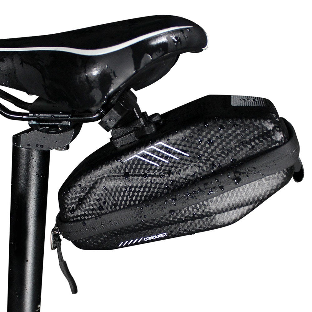 0.8L Bike Saddle Bags Rainproofroof Bicycle Under seat Bag for Mountain Road Bicycles