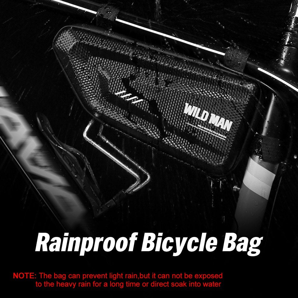 Bicycle Triangle Frame Bag Water Resistant Bicycle Pouch Top Tube Pack Lightweight Bike Storage Bag